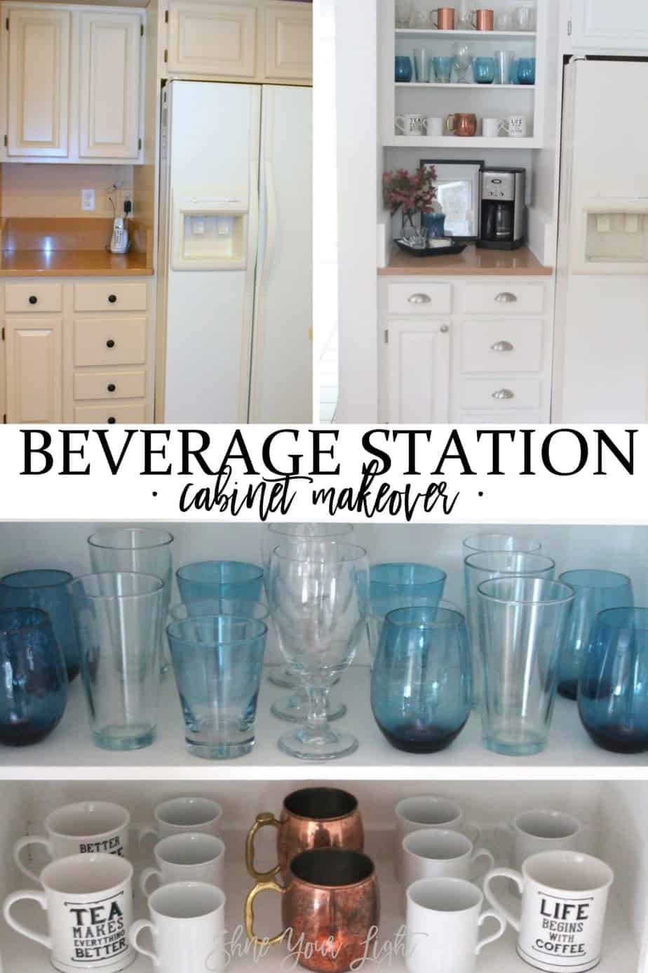 Kitchen beverage station.