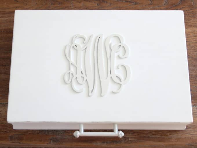 An old silverware chest gets a makeover inside and out.