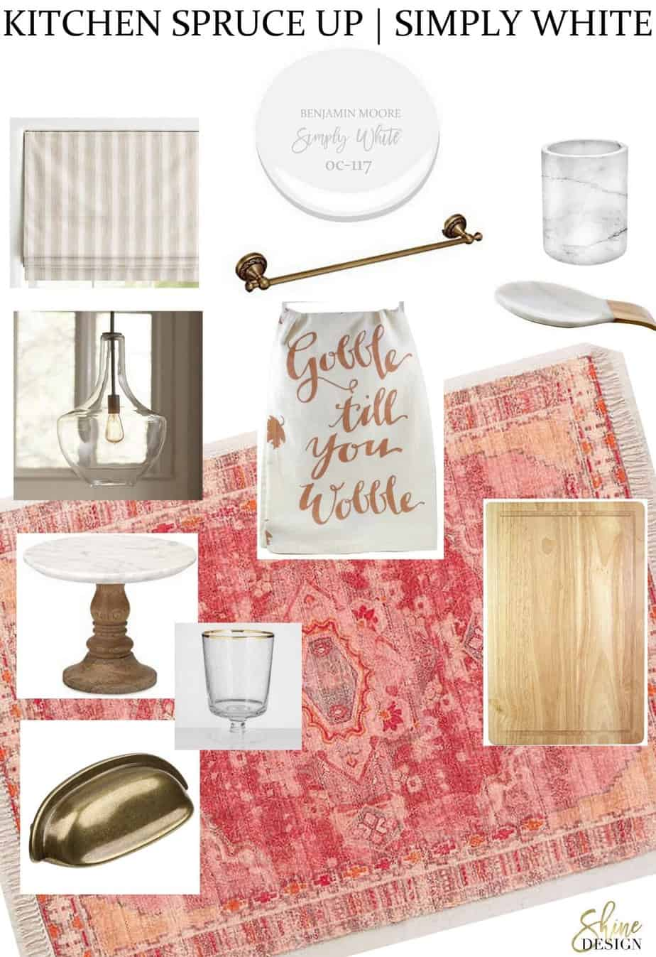 Ideas to freshen up a kitchen before the holiday season.