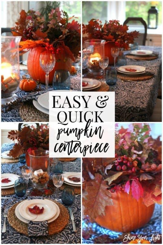 How to make a centerpiece with a fresh pumpkin.