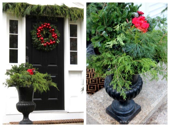Christmas urns.