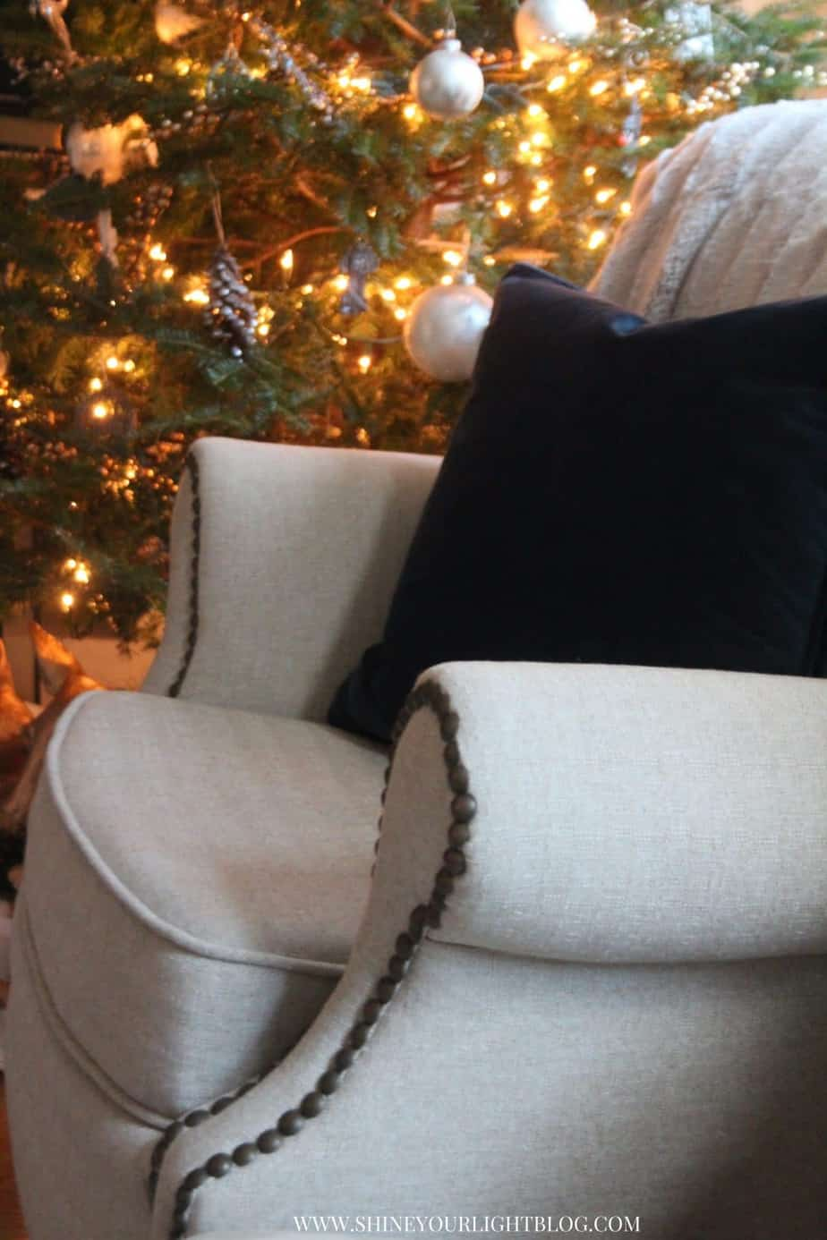 A comfy chair by the fire