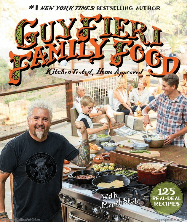 Cookbook by Diners, Drive-Ins and Dives host Guy Fieri.