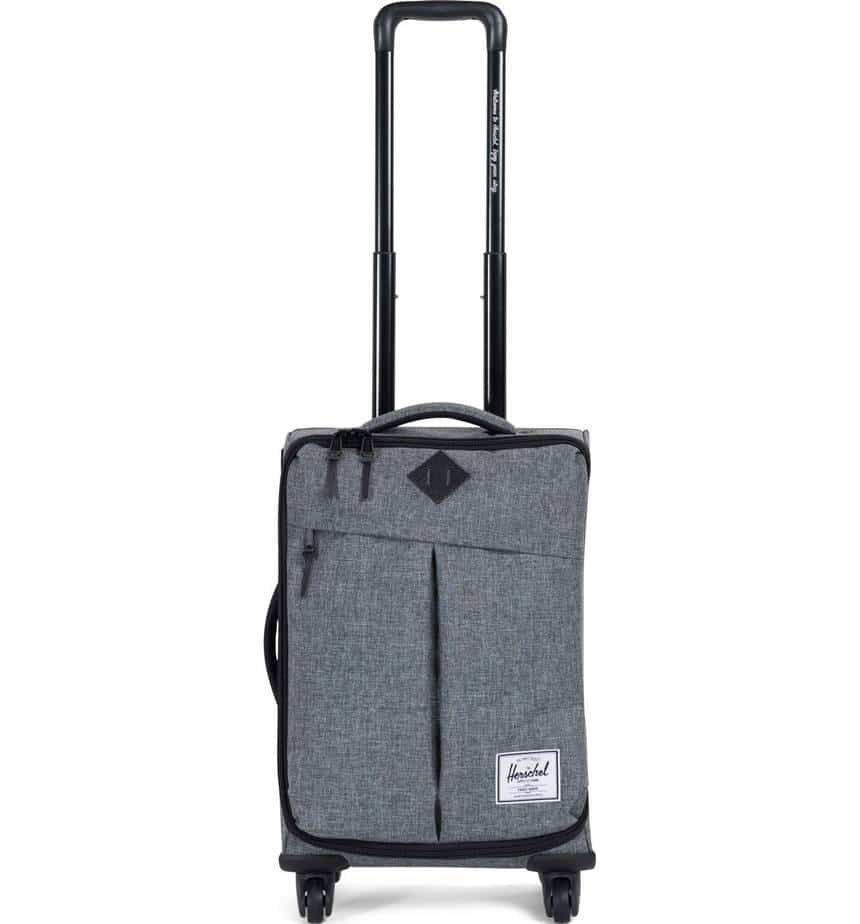 Herschel brand carry on suitcase.