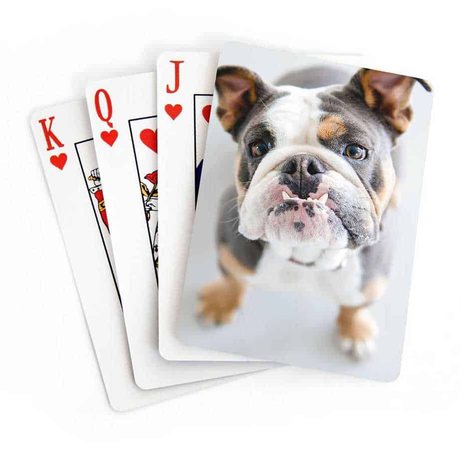 Photo customized playing cards