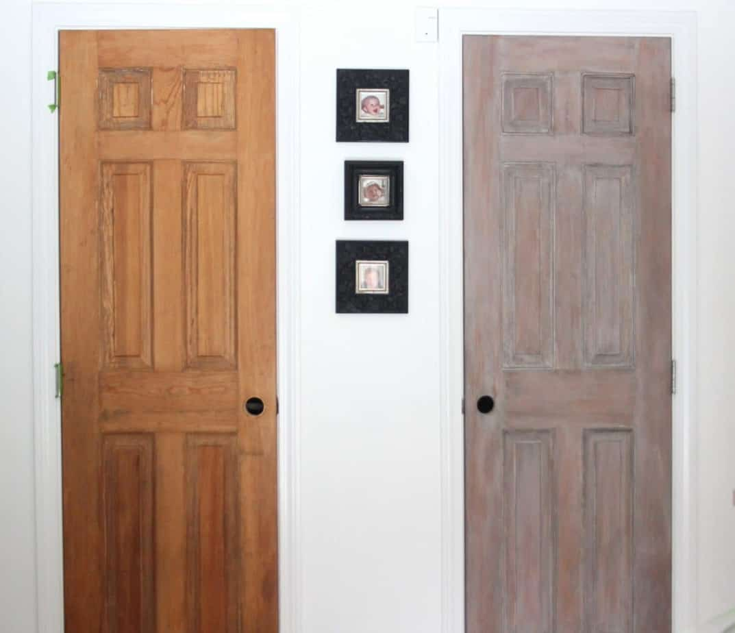 Trying out architectural salvage pantry doors shine your light for Distressed wood interior doors