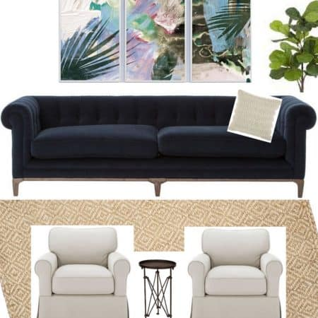 One Room Challenge | Coastal Chic Family Room | Week One!