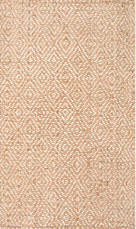 Diamond pattern jute rug