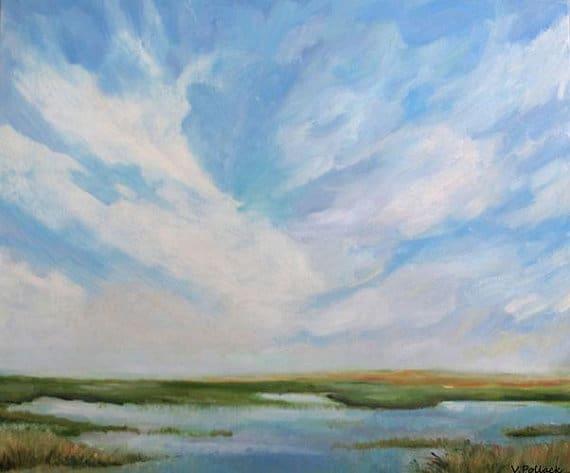 Vivien Pollack oil painting, Etsy.