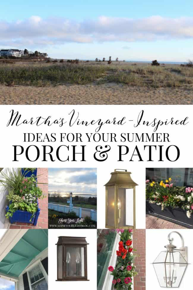 Ideas for a summer porch or patio inspired by the bucolic Martha's Vineyard island.