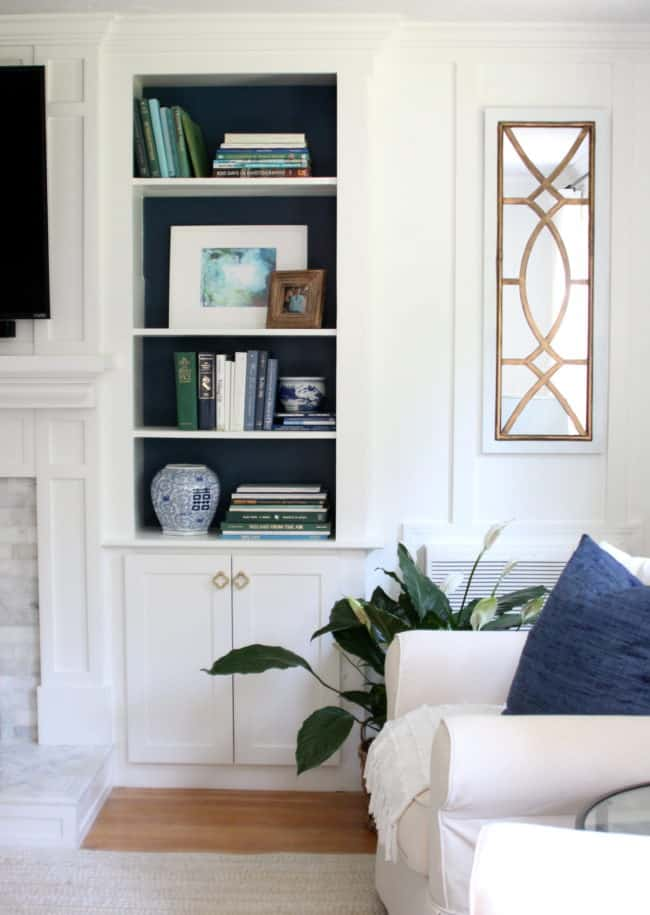 Updating Adding Cabinet Doors To Built In Bookcases Shine Your Light