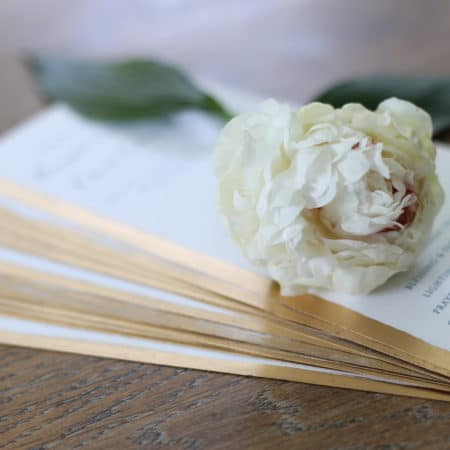 How To Gild Wedding Programs, Menus & Other Stationery