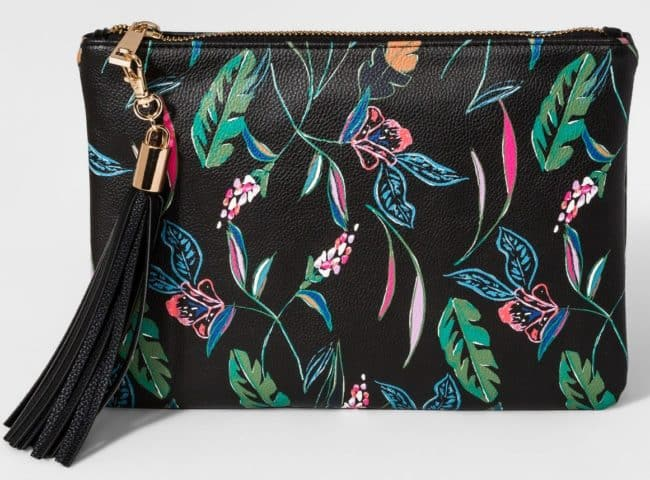 This cute pouch and super affordable pouch keeps a handbag organized and can also double as a clutch as needed!