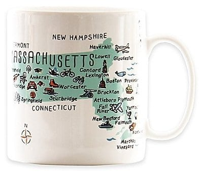 Add an oversized coffee mug from your home state to your women's dorm room essentials list!