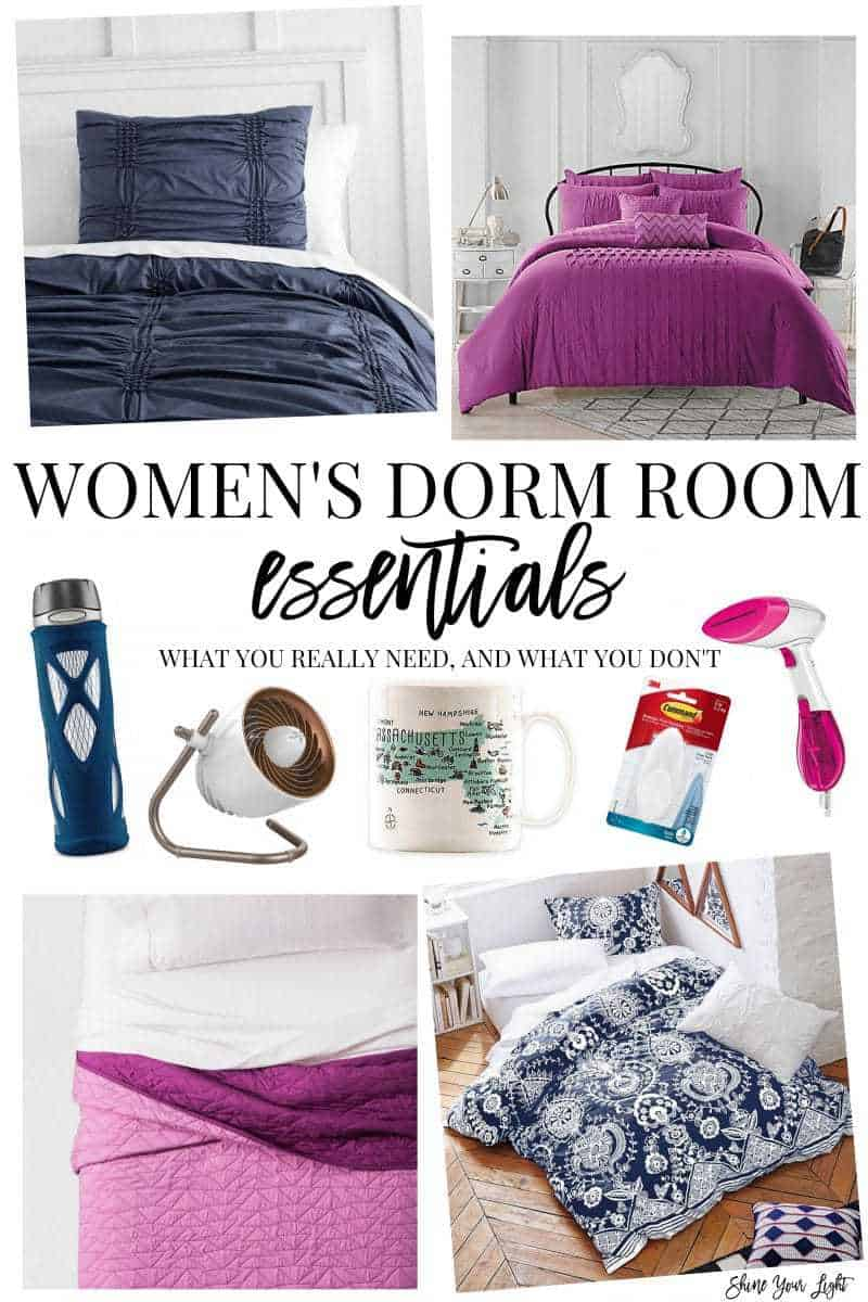 Women's dorm room essentials and where to find them.