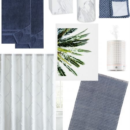 A Blue & White Bathroom Refresh