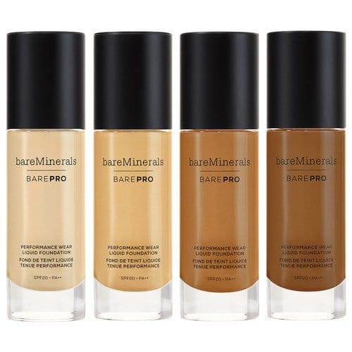 Bare Minerals Bare Pro foundation has a really nice coverage and gives skin a flawless finish.