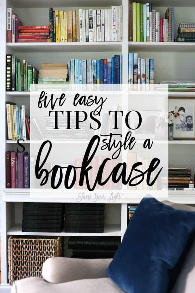 Five simple tips to take your bookcase from chaotic to cohesive!