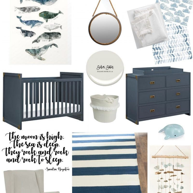 Navy & White Nursery