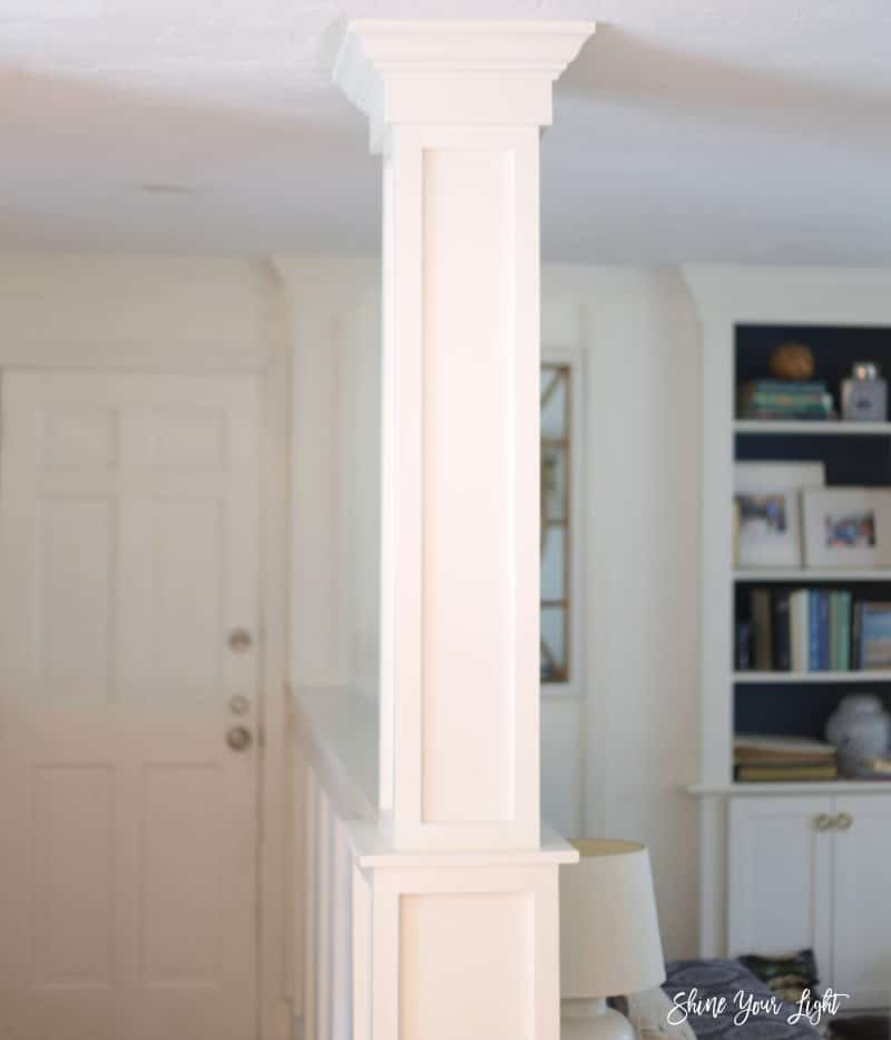 Half Wall Column Remodel Shine Your Light