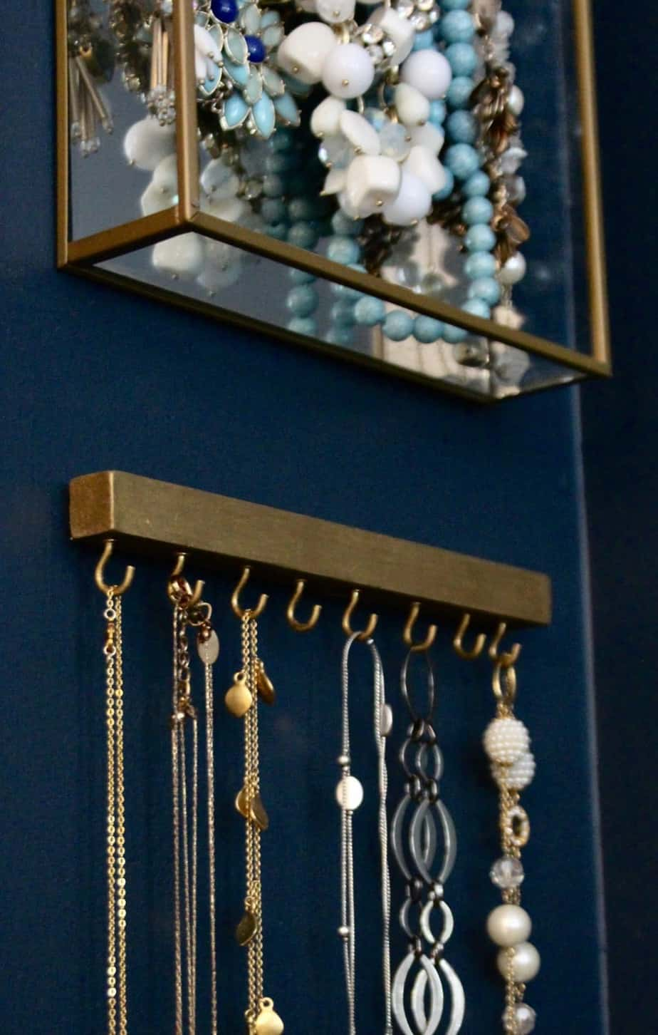 Simple Modern DIY Wall Necklace Hanger   Shine Your Light