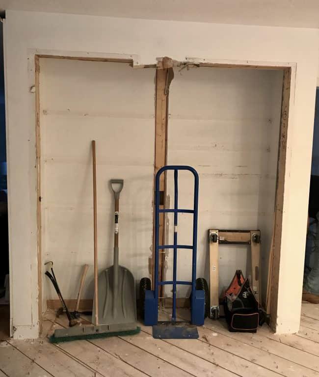 Reconstructing pantry closet