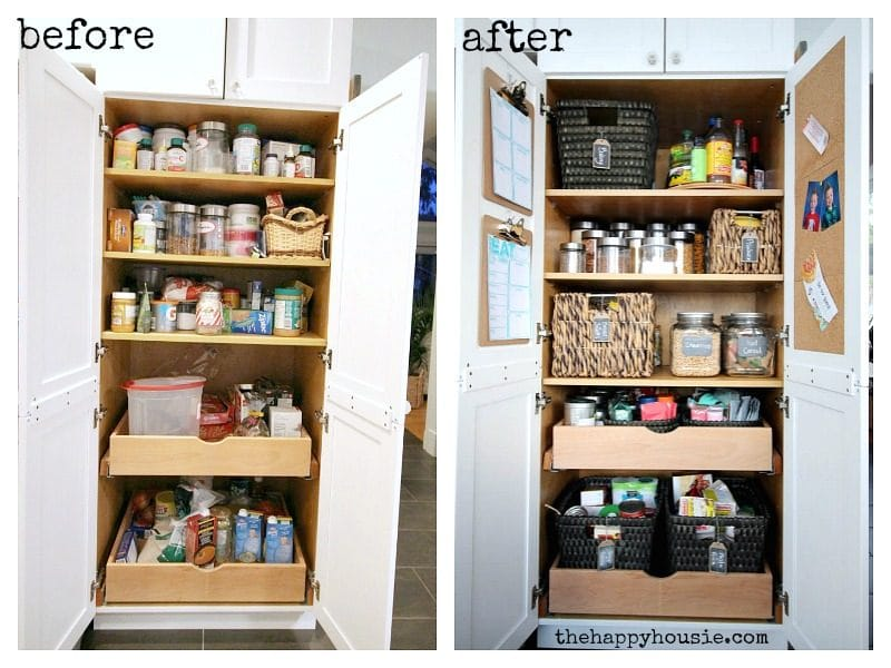 Tips to organize a pantry with pull out shelves