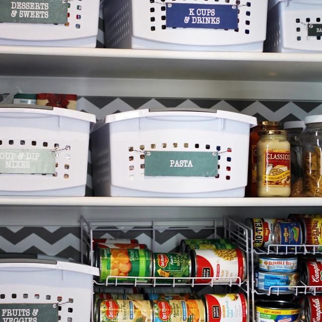 Practical tips for organizing a small reach in pantry.