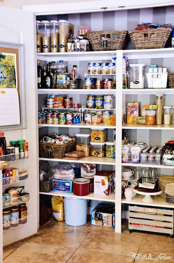 Pantry makeover with removable wallpaper