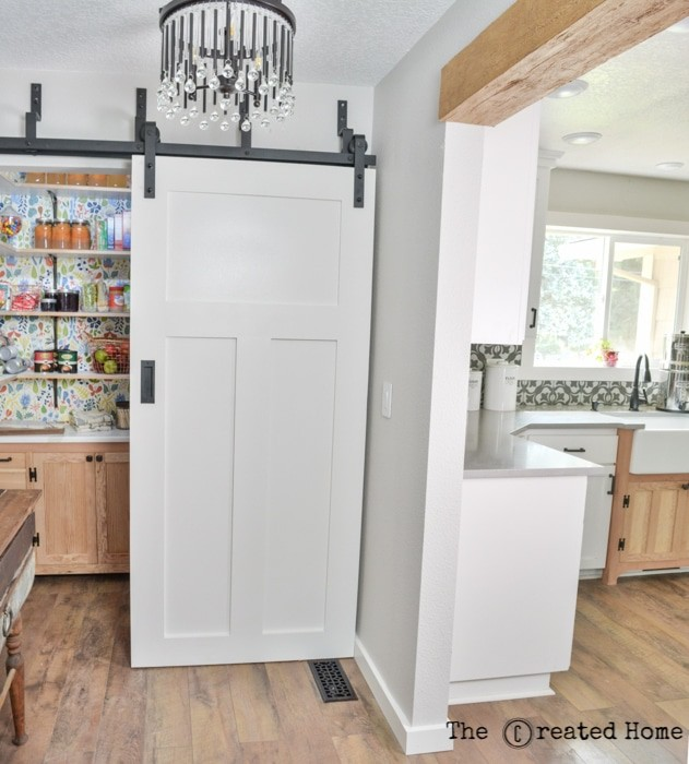 DIY pantry and laundry room by The Created Home