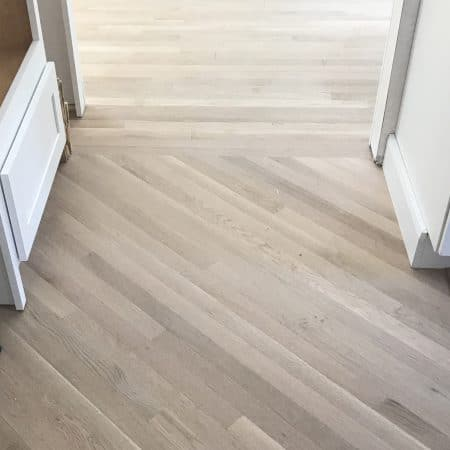 Diagonal Hardwood Floor Installation