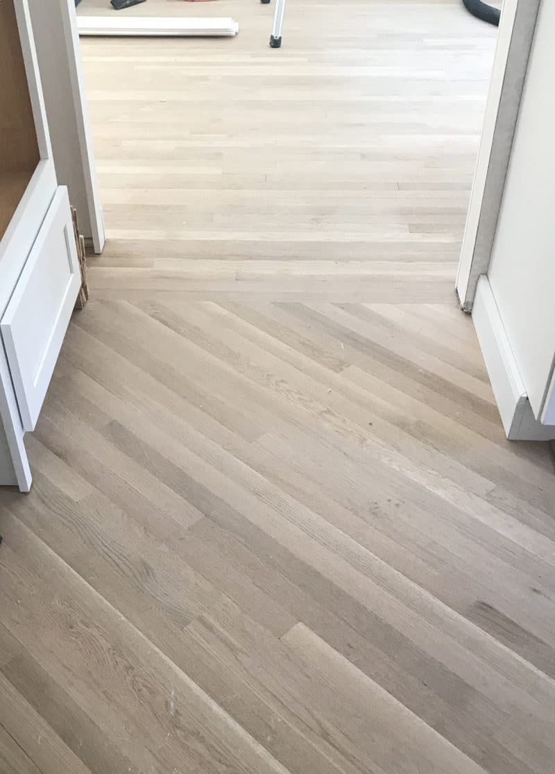 Diagonal Hardwood Floor Installation