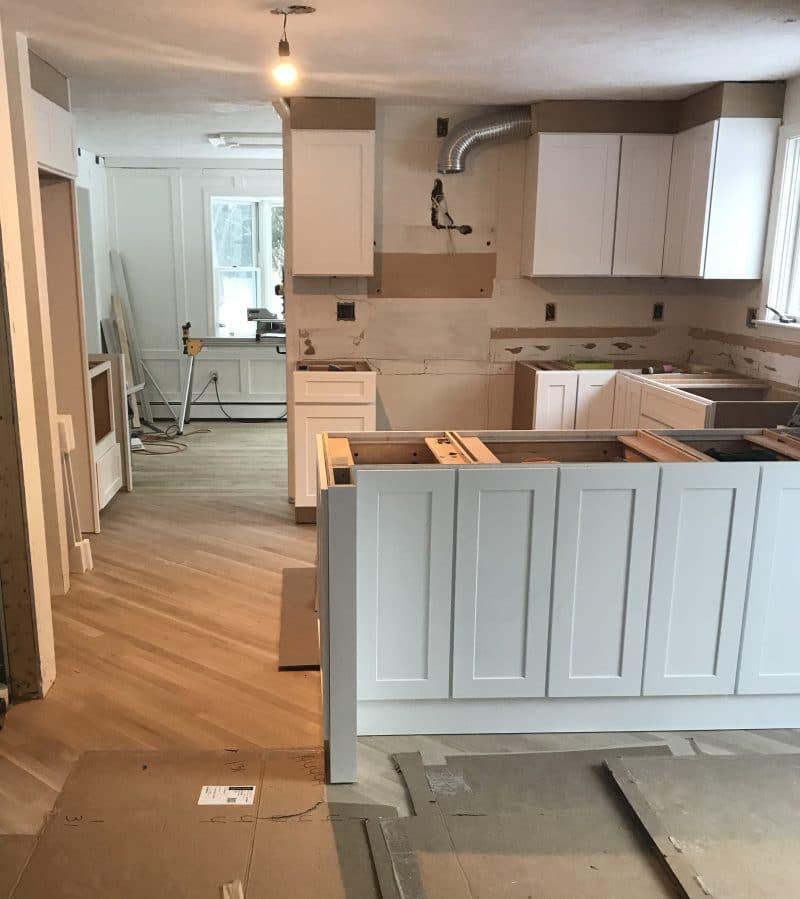 Kitchen Cabinet Installation: Floor & Cabinet Installation - Shine Your Light