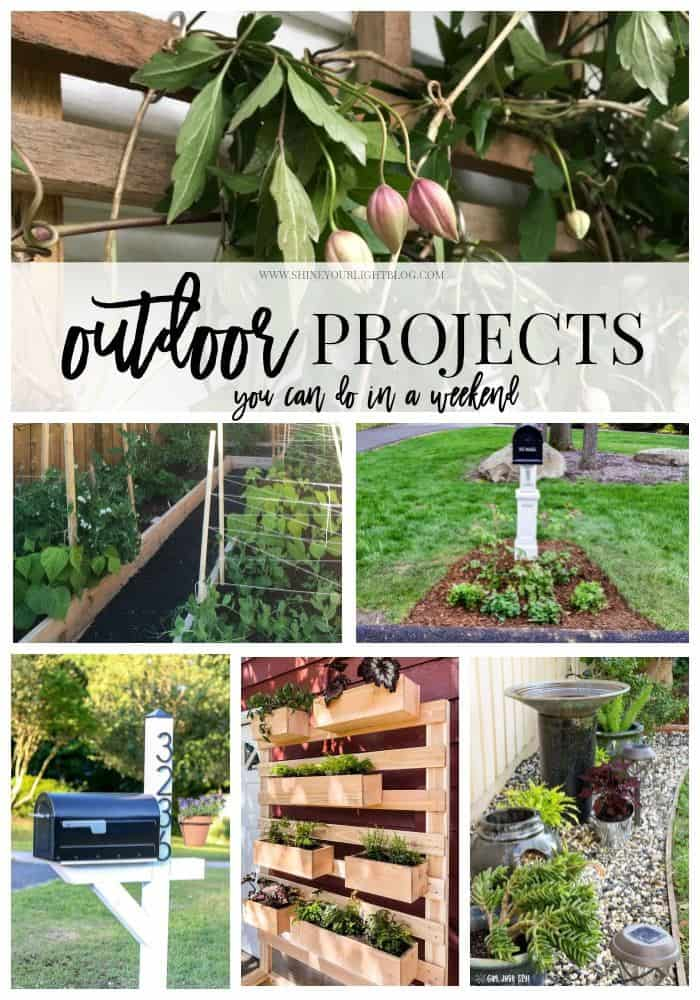 Outdoor DIY projects that can be done over a weekend.