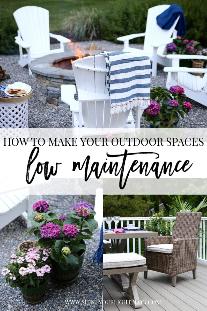 How to make a deck and patio low maintenance