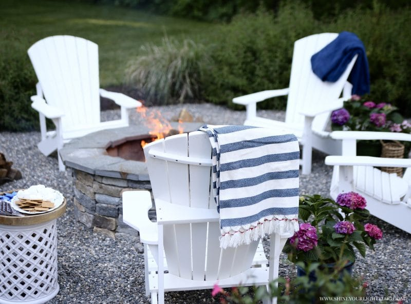DIY patio and fire pit