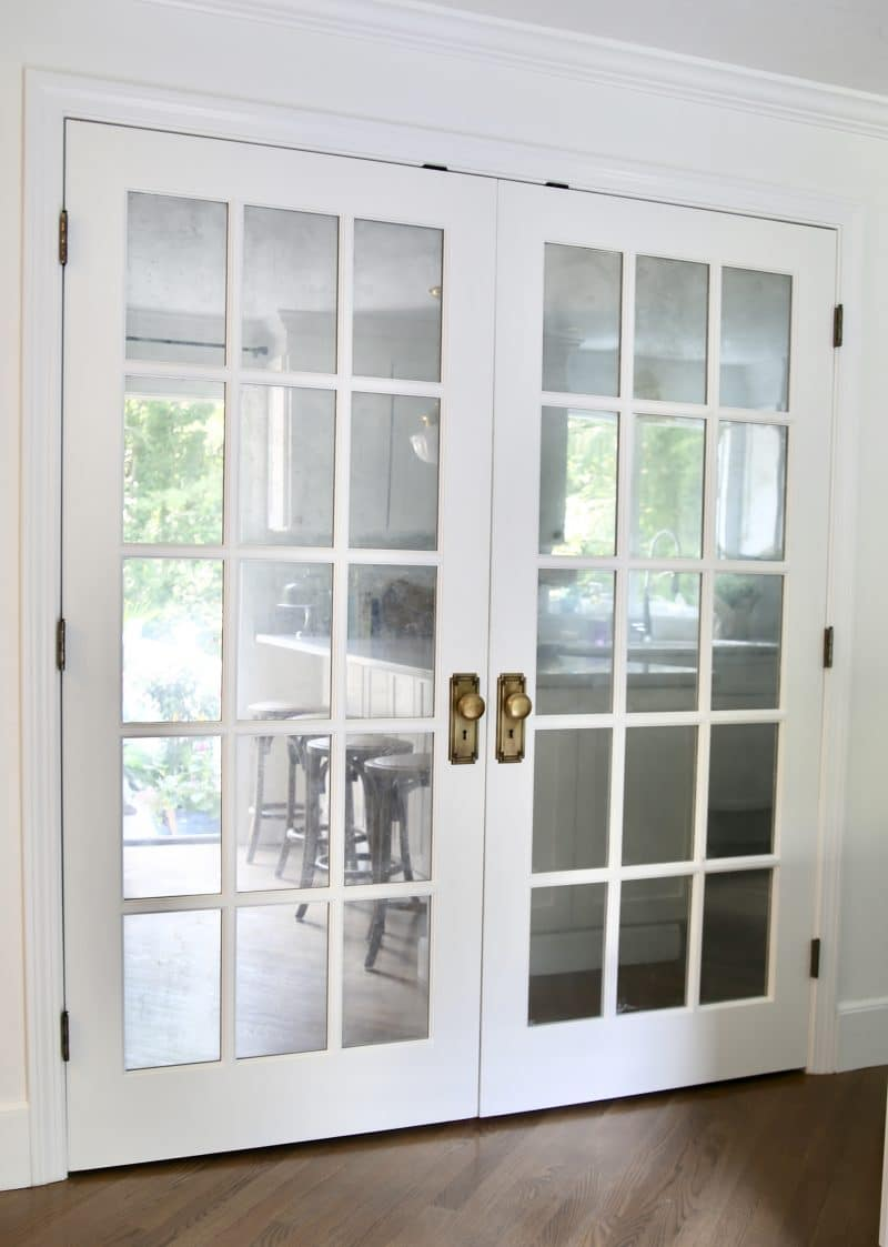 Antique Mirror French Doors
