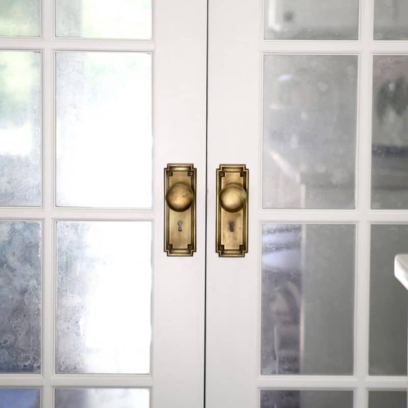 How To Create An Antique Mirror Finish On French Doors Or Glass Cabinets