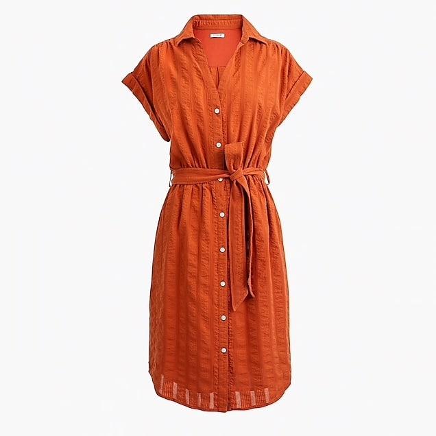 Lightweight summer shirtdress with short sleeves