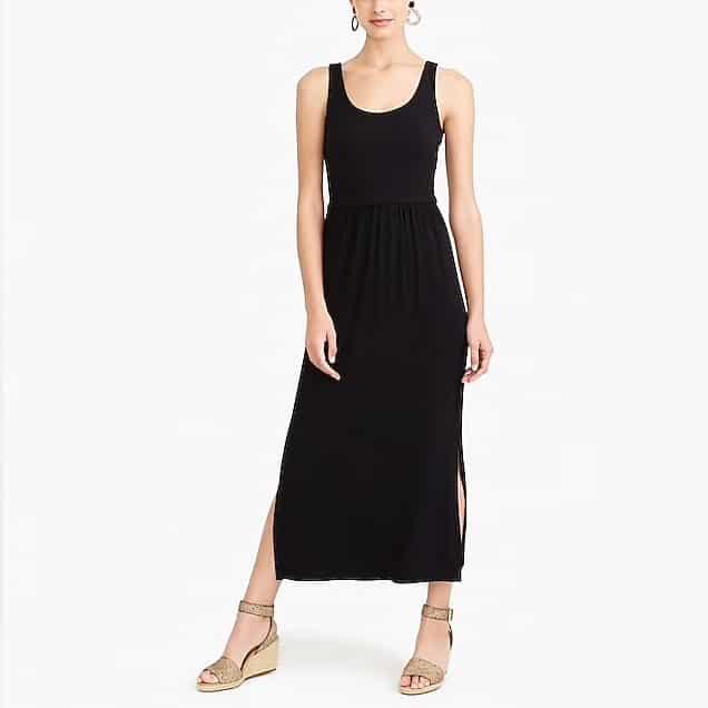 Black mid length tank dress