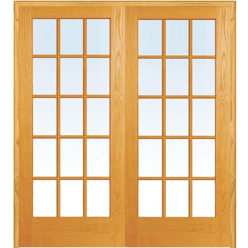 Unfinished French doors
