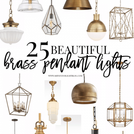 Gorgeous brass pendant lights for all budgets