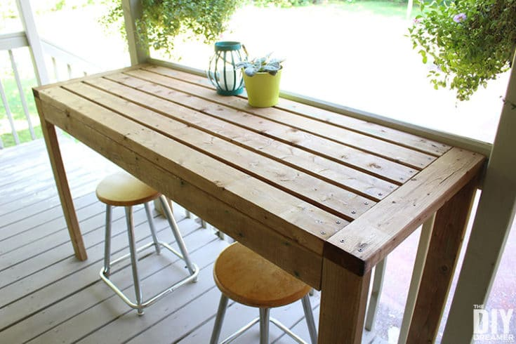 How to Build a 2x4 Outdoor Bar Table