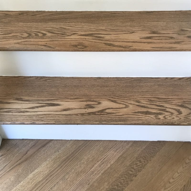 Refinished stair treads