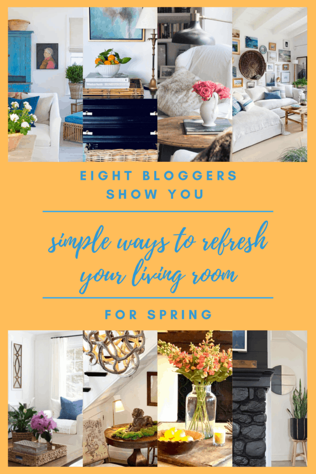 Five ideas to refresh a living room for spring.