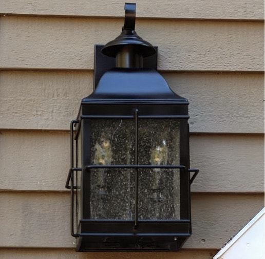 Spraypainted Outdoor Light Fixture