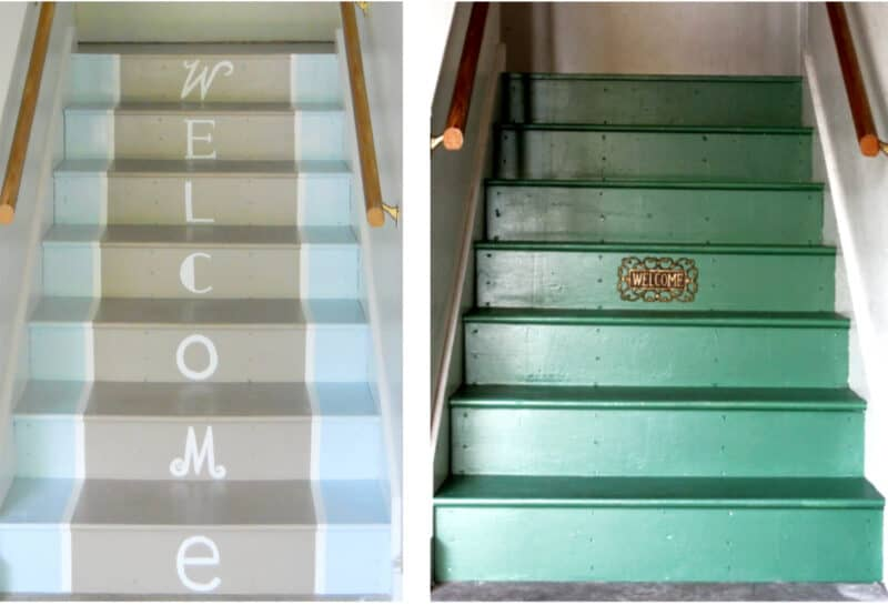 Painted Garage Stairs