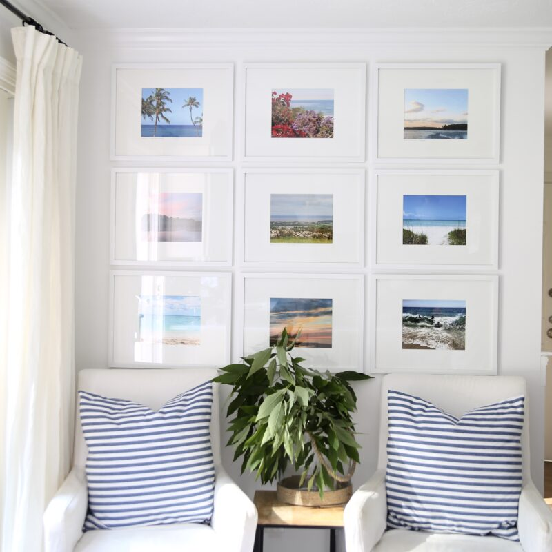 Our Gallery Wall & Sources For Frames, Mats and Photography