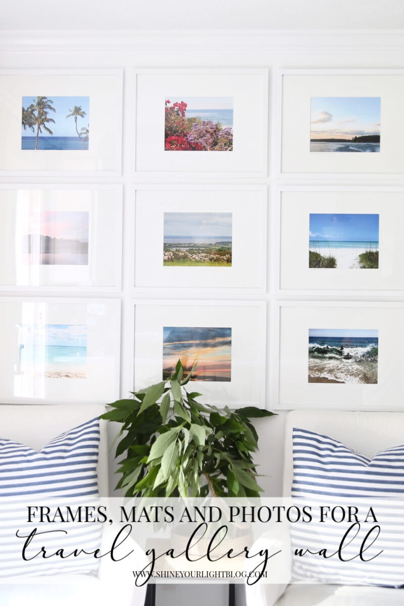 Gallery wall frames, mats and photographs