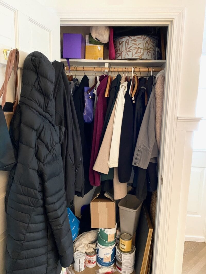 Coat Closet Before Makeover